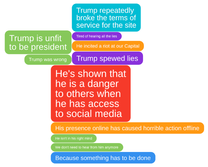 IdeaCloud™ about why support Trump twitter ban
