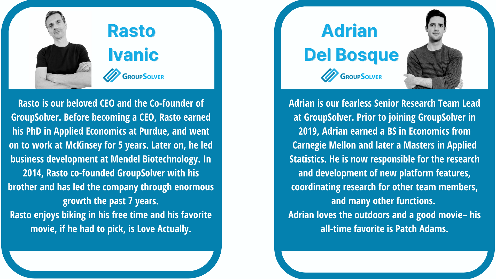 GroupSolver CEO and Research Team Lead Biographies